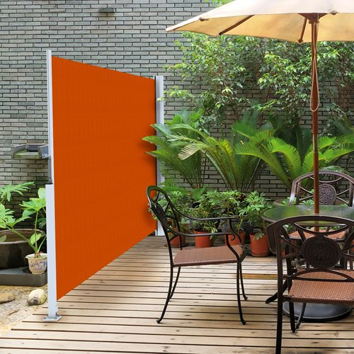 Retractable horizontal shades ae door window for Horizontal garden screening