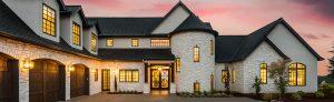 White brick home exterior