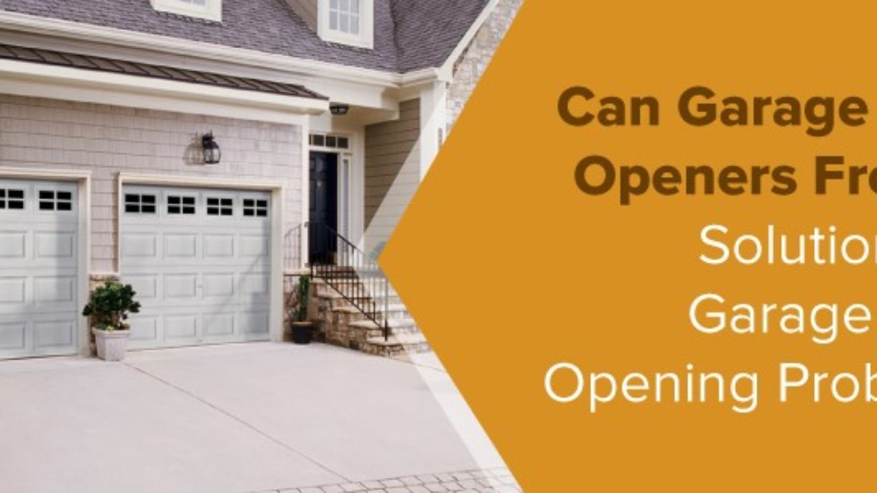How To Open Garage Door Manually From Outside With Key solutions for garage door opening problems | frozen garage