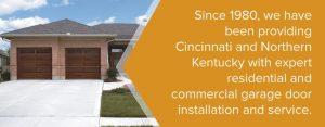 Northern Kentucky garage door installation