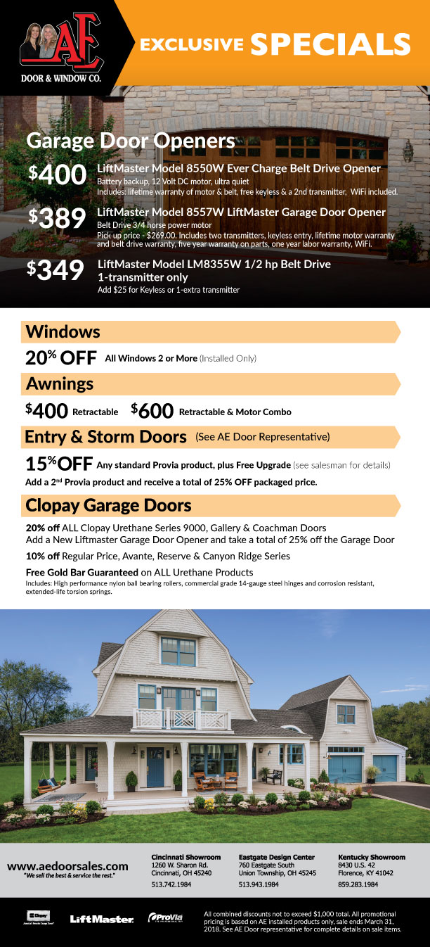 Ae Door 2018 Home Show Flyer No Packages Web Clopay Dealer