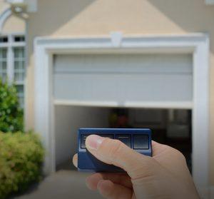 Blue garage door opener