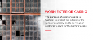 Worn exterior casing