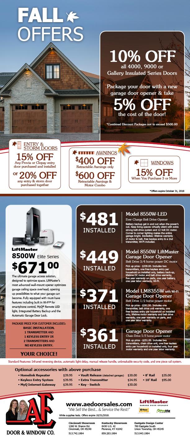 Ae Door Oct18 Sales Flyer Fd Clopay Dealer