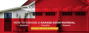 How to chose a garage door material