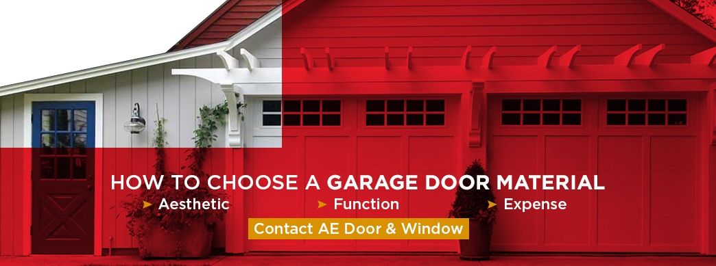 choosing garage door material