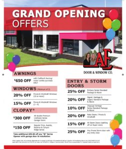 Grand opening offers