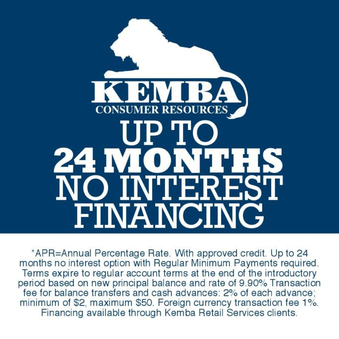 Kemba Consumer Resources financing for garage door and window purchases