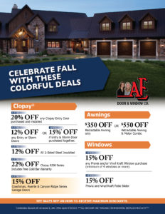 Fall promotional offers