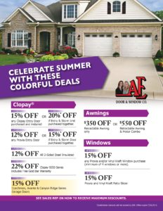 Summer promotional offers