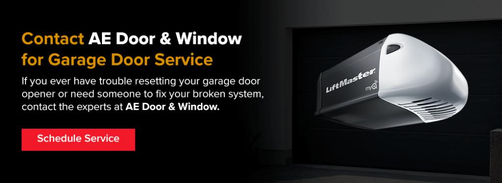 Contact AE Door & Window for garage door service