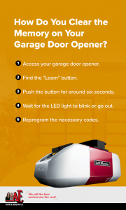 Ho do you clear the memory on your garage door opener?
